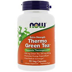 Now Foods, Thermo Green Tea、ベジキャップ 90錠