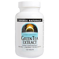 Source Naturals, グリーンティー エキス, 500 mg, 120 錠