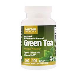 Jarrow Formulas, グリーン ティー、500 mg、ベジカプセル100個