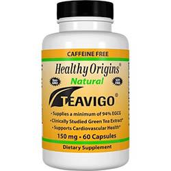 Healthy Origins, Teavigo、カフェイン抜き、150 mg、60カプセル