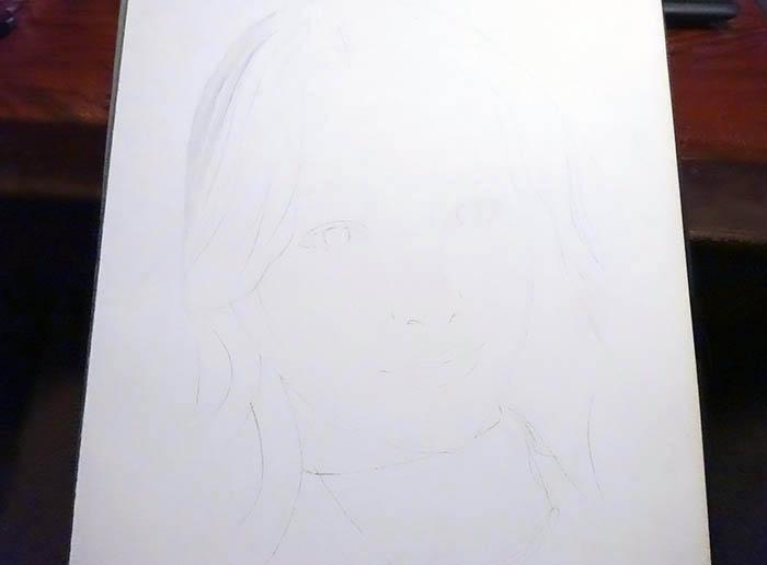 鉛筆画で描く人物1