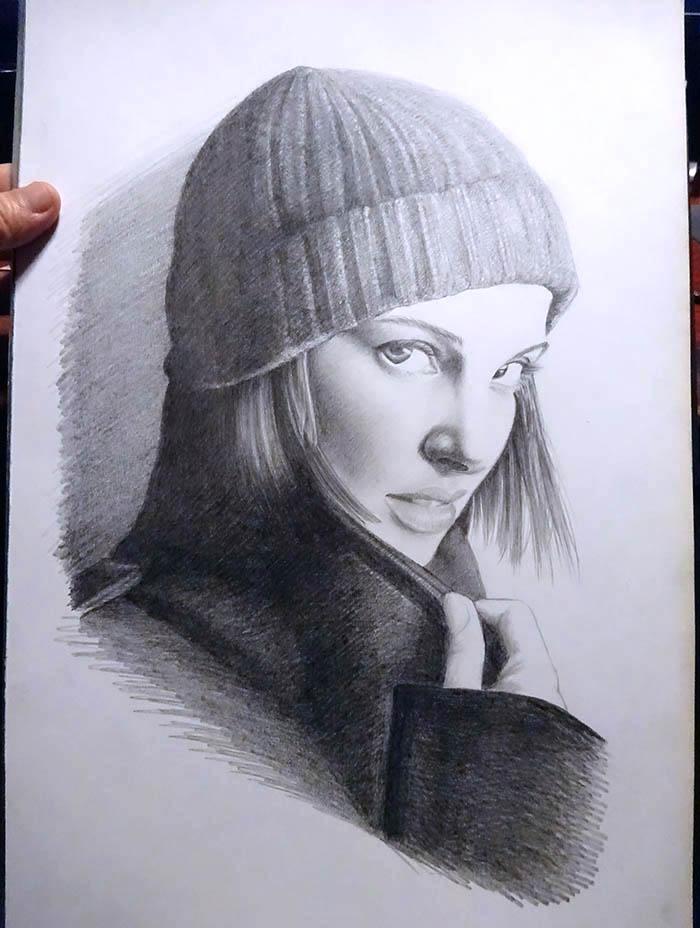 鉛筆画で描く人物2