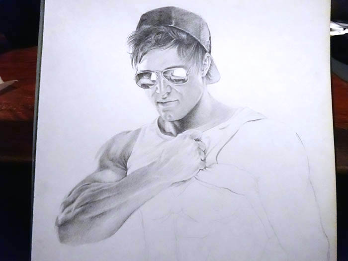 鉛筆画で描く人物3