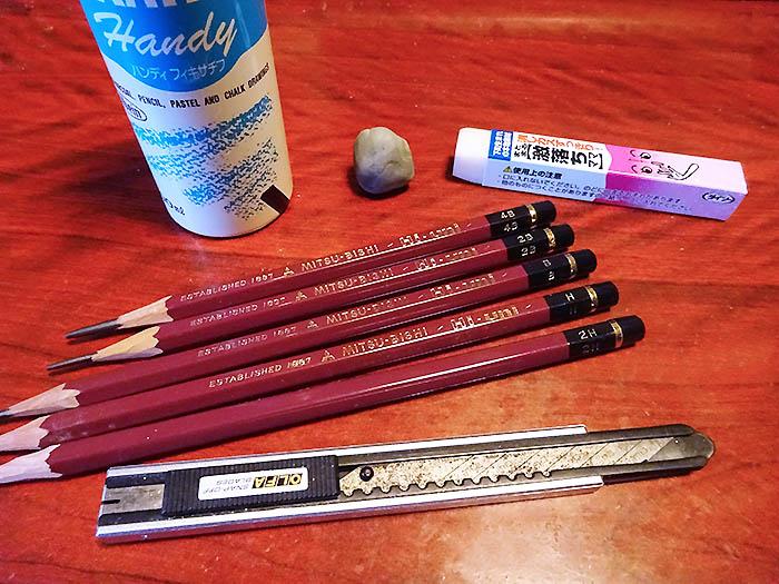 鉛筆画を始めるには?鉛筆画で使っている私の道具