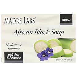 Madre Labs, アフリカン・ブラックソープバー、オーツ麦・オオバコ配合