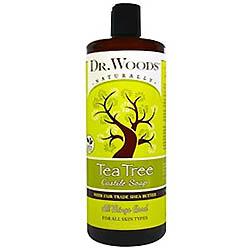 Dr. Woods フェアトレードシアバター使用 ティーツリー カスティール石鹸