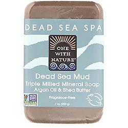 One with Nature トリプルミルドミネラルソープバー、死海の泥、無香料