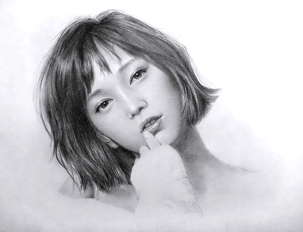 女性の人物画を描いてみた!鉛筆画の描き方とコツ【初心者おじさんの趣味入門】