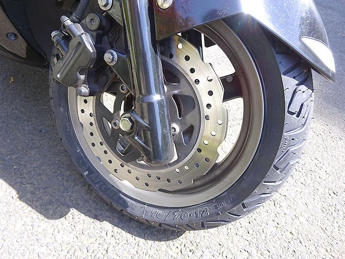 【シグナスX】MICHELIN CITY GRIP 2に前後タイヤ交換したけど、どおよ?