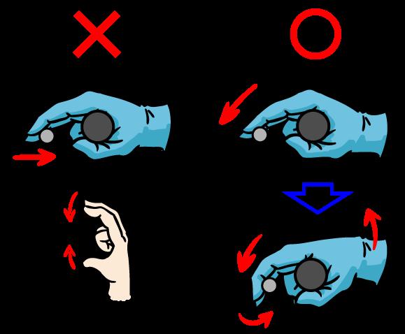 2本指のフルブレーキングテク