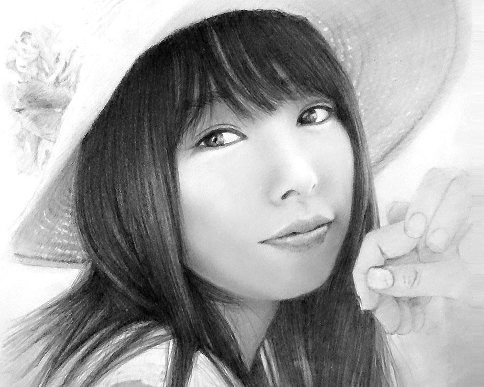 アイドル系の女の子の人物画を描いてみた!鉛筆画の書き方とコツ【初心者おじさんの趣味入門】