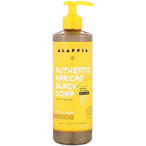Alaffia オーセンティック アフリカン ブラック ソープ、バニラ アーモンド