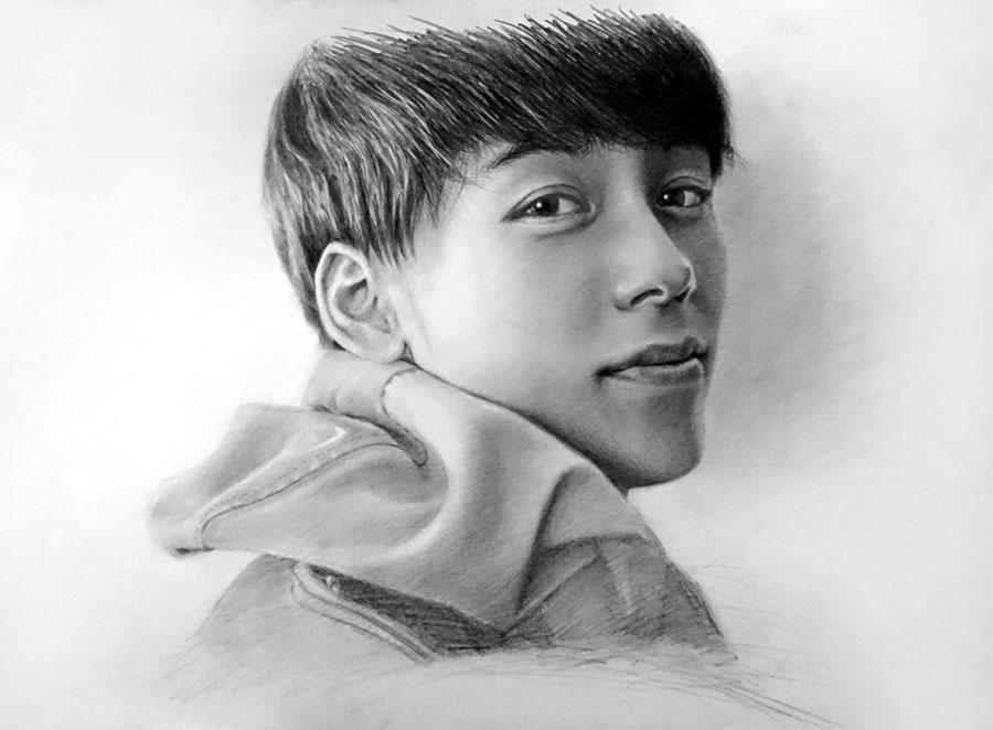 若い男性の人物画を描いてみた!鉛筆画の書き方とコツ【初心者おじさんの趣味入門】