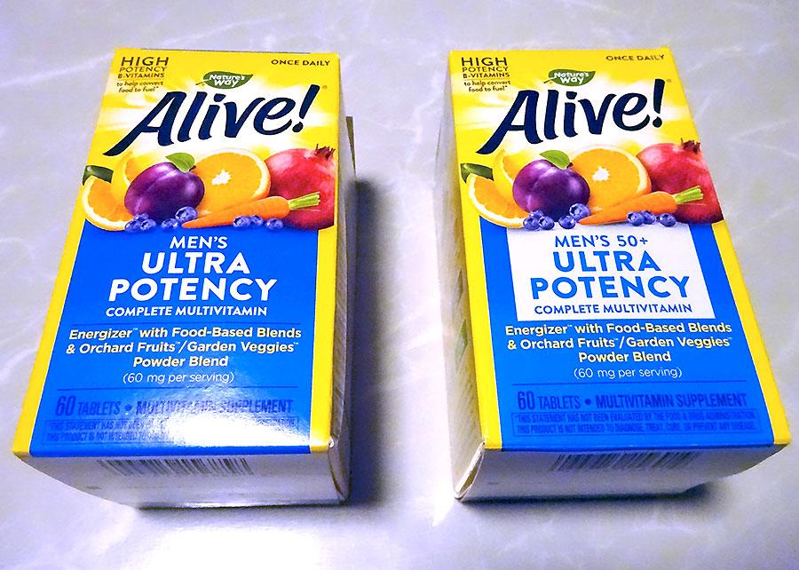 「Nature's Way」Alive! おじさんは括目せよ!自然食品ベースのマルチビタミンぜよw【iHerb】