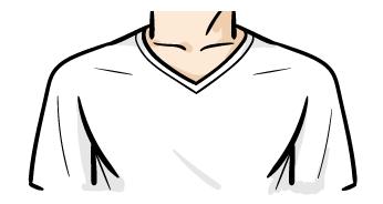 TシャツVネック