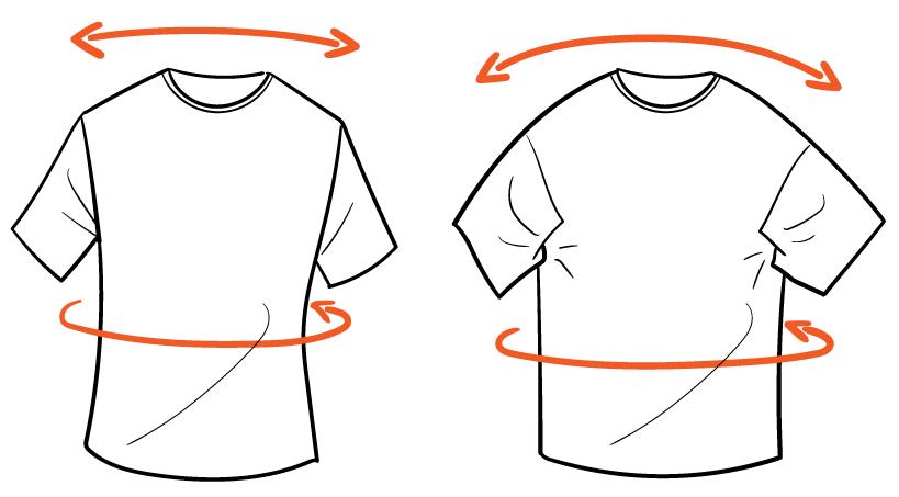 ひとつ気をつけたいのは、Tシャツのデザインは結構結構カッティングが違うってこと。